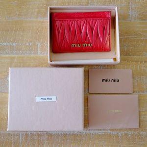Miu Miu Matelasse Lux Card Holder
